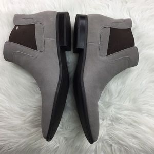 34b5f54fd0 NEW Calvin Klein Larry Calf Suede Ankle Boots 12 NWT
